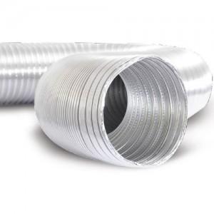 Semi-flexibele aluminium slang AF-AL